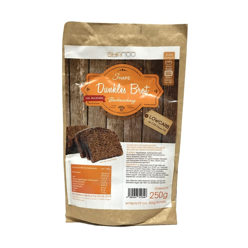 Backmischung für dunkles Low Carb Brot - 250g